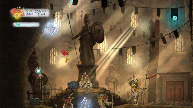 Theres Tourmalin in the stone, Tumbled Sapphire in the left chest, and Potent Healing Tonic in the right one - Chapter 8 | Collectibles - Collectibles - Child of Light Game Guide