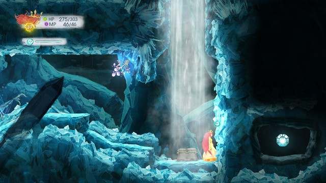 Damage Elixir in the chest and Rough Amethyst in the stone - Chapter 10 | Collectibles - Collectibles - Child of Light Game Guide