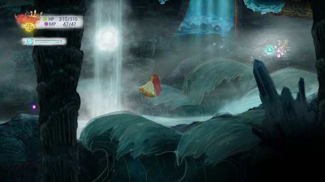 Unstoppable Elixir is in the stone on the right, and Tumbled Ruby on the left - Chapter 10 | Collectibles - Collectibles - Child of Light Game Guide