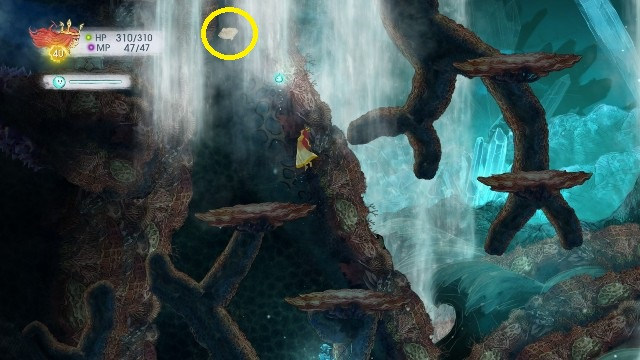 On the left under the streams of water, there is another letter - Chapter 10 | Collectibles - Collectibles - Child of Light Game Guide