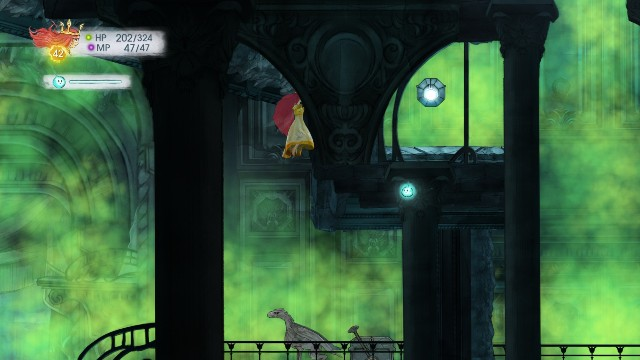 Tumbled Sapphire in the chest and Tumbled Citrine in the stone - Chapter 10 | Collectibles - Collectibles - Child of Light Game Guide