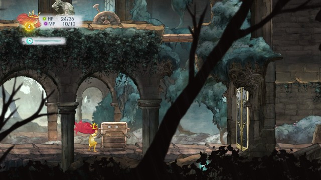 After you exit the cave and go right, you will find a blocked door - Chapter 2 - The Queen of Light | Walkthrough - Walkthrough - Child of Light Game Guide