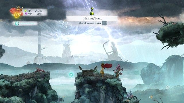 The next one is not hidden and it is on the road, right after the first battle - Chapter 1 | Collectibles - Collectibles - Child of Light Game Guide