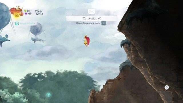 You find the first note at the very beginning of the chapter - Chapter 3 | Collectibles - Collectibles - Child of Light Game Guide