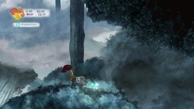 Inside, you find Rough Sapphire - Chapter 3 | Collectibles - Collectibles - Child of Light Game Guide