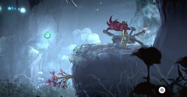 If you have jumped over the crack and followed the path to the right, you have reached a cave - Chapter 3 | Collectibles - Collectibles - Child of Light Game Guide