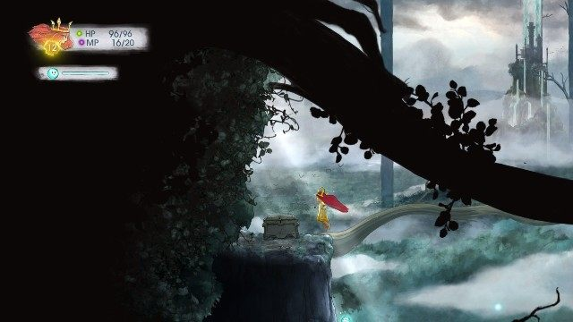 Inside, there is Rought Emerald - Chapter 3 | Collectibles - Collectibles - Child of Light Game Guide