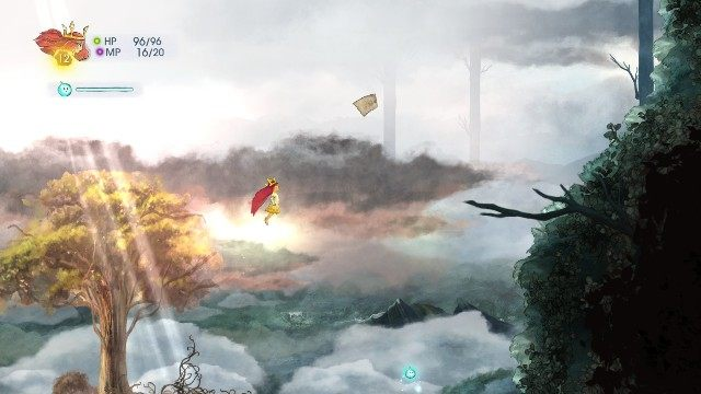 Above the spot where you have killed the second boss, there is another note - Chapter 3 | Collectibles - Collectibles - Child of Light Game Guide