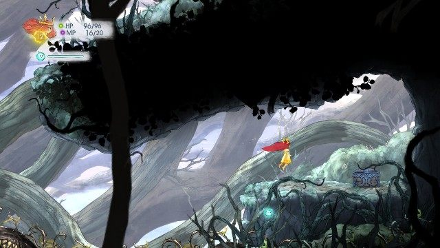 Inside, you find 2x Magic Potion - Chapter 3 | Collectibles - Collectibles - Child of Light Game Guide