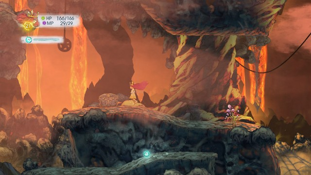 After you pass the trap, there is a chest waiting for you on the right - Chapter 6 | Collectibles - Collectibles - Child of Light Game Guide