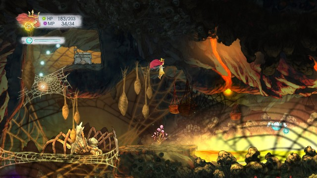 In the stone, there is a Magic Defence Elixir, while in the chest - a Tumbled Emerald - Chapter 6 | Collectibles - Collectibles - Child of Light Game Guide