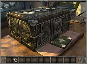 Localize the lock and use the key found in the chest - Walkthrough - Brittany - Museum - Part 2 - Brittany - Chronicles of Mystery: The Tree of Life - Game Guide and Walkthrough