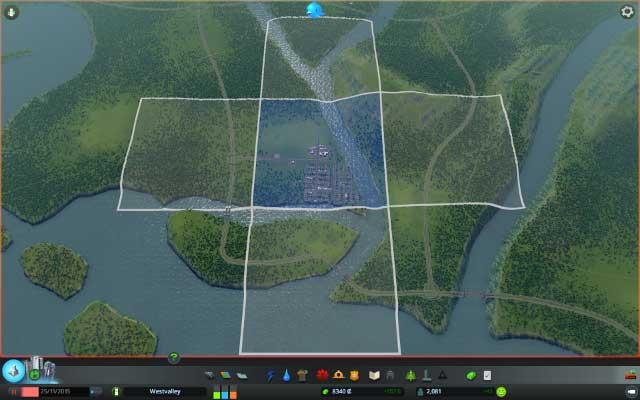 Buying new territory | Mayor panel - Cities: Skylines Game