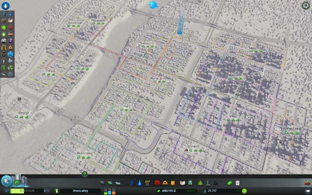 Transportation example in Cities Skylines