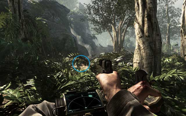 The waterfall with the laptop marked in blue. - Rorke files (01-09) - Call of Duty: Ghosts - Game Guide and Walkthrough
