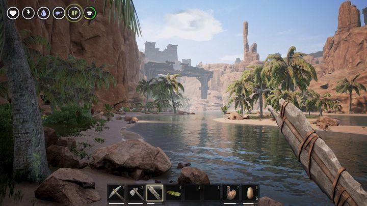 In the river valley turn west, where good hunting grounds and a lot of experience await you. - Crafting, Battle and Steel for Solo Players| Conan Exiles - Tips from GameStar.de - Conan Exiles Game Guide