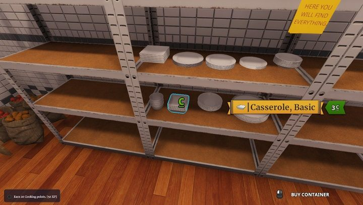One of the best auxiliary containers in the game. - Containers in Cooking Simulator - Abilities and skills (unlocks) - Cooking Simulator Guide
