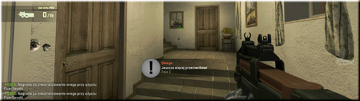 The left turn leads to stairs that can be used by our opponents to enter the building - Mission 1 Austria - Missions - Counter-Strike: Global Offensive Game Guide