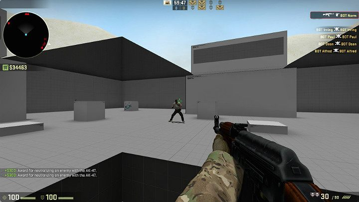 In order to develop the reflex of placing the crosshair at the level of the opponents head automatically, you can practice on the Fast Aim / Reflex Training map available from the Steam Workshop - Aiming in CS GO - Gameplay - CS GO Game Guide