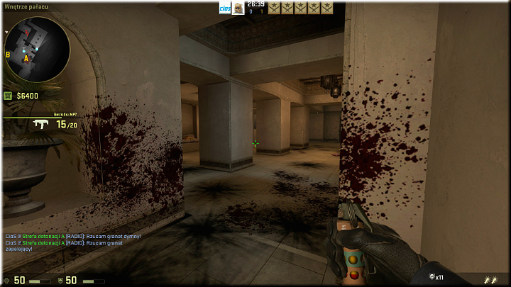 Right after the wave ends, it is a good idea to climb up the ladder onto the balcony, from where you can access the corridor shown in the above screenshot - Mission 7 †Mirage - Keep It Professional - Missions - Counter-Strike: Global Offensive Game Guide