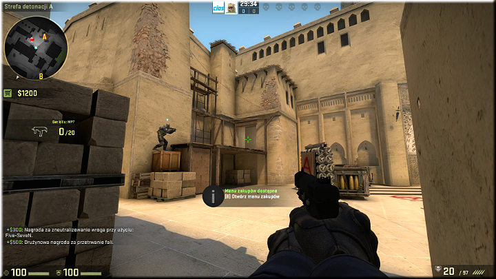 In this position, you can feel a little bit safer because you are between two covers of bricks and the wall - Mission 7 †Mirage - Keep It Professional - Missions - Counter-Strike: Global Offensive Game Guide