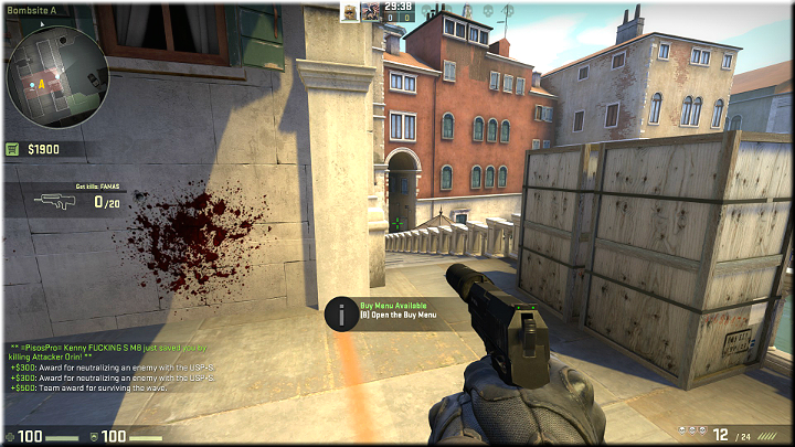 Opponents may appear in the tunnel up in the distance and either climb up the stairs, or go left, towards the next passage - Mission 10 - Rialto - Bridging the gap - Missions - CS GO Game Guide