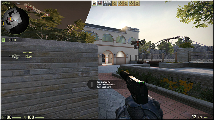 Opponents may appear in the passage up in the distance - Mission 16 - Thrill - Beauty Shots - Missions - CS GO Game Guide