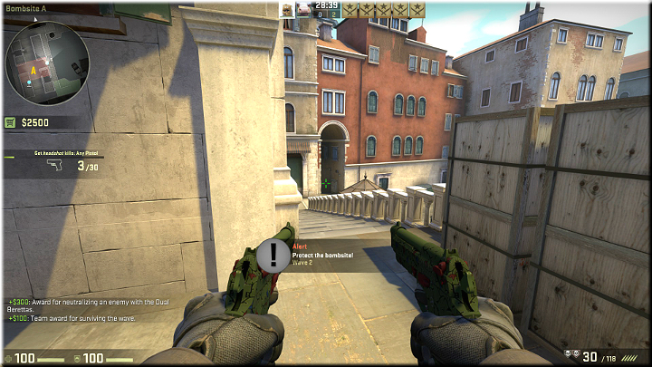 The enemies could come from that tunnel and take the stairs up or go left to the next passage - Mission 23 - Rialto - Continental Etiquette - Difficult missions - Counter-Strike: Global Offensive Game Guide