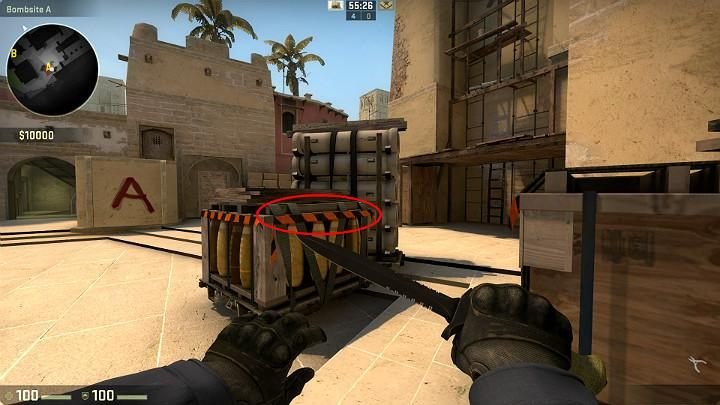 While running away from the counter-terrorist respawn point, you do not have to climb up the ladder to get onto the podium - Mirage | Tournament maps in CS GO - Tournament Maps in Counter Strike: Global Offensive - CS GO Game Guide