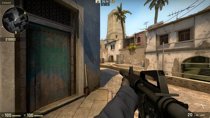 As you move towards the center, it is a good habit to check out the area behind the cardboard boxes - Mirage | Tournament maps in CS GO - Tournament Maps in Counter Strike: Global Offensive - CS GO Game Guide