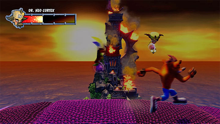 Run to the right and be ready to quickly turn around and jump left - Cortex N. Capacitated | Crash Bandicoot Trophy Guide - Crash Bandicoot - Crash Bandicoot N. Sane Trilogy Game Guide
