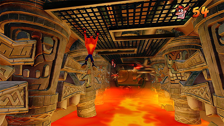 Soon, youll reach a new checkpoint and a new walkway - Hangin Out | Crash Bandicoot 2 | Levels - Crash Bandicoot 2 - Alpine Warp Room - Crash Bandicoot N. Sane Trilogy Game Guide