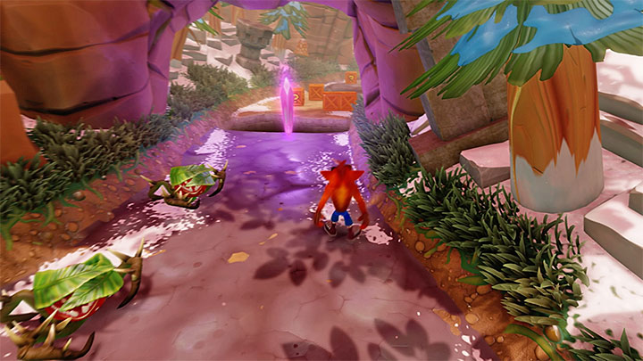You can also choose the right path, which is the recommended choice if you are planning to reach the remaining crates - Diggin It | Crash Bandicoot 2 | Levels - Crash Bandicoot 2 - Alpine Warp Room - Crash Bandicoot N. Sane Trilogy Game Guide