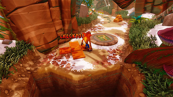 After youre back on the main path, proceed, avoiding further totems, bee swarms, and spitting plants - Bee-Having | Crash Bandicoot 2 | Levels - Crash Bandicoot 2 - Alpine Warp Room - Crash Bandicoot N. Sane Trilogy Game Guide