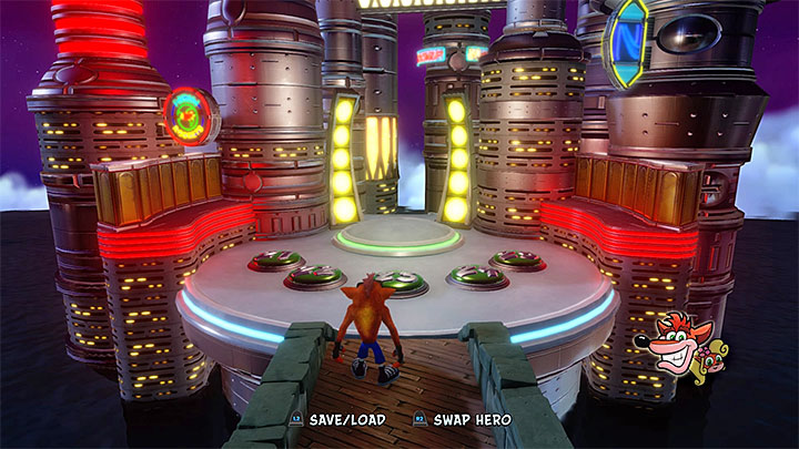 The fifth area with portals - Crash Bandicoot 3 - Future location - Crash Bandicoot N. Sane Trilogy Game Guide