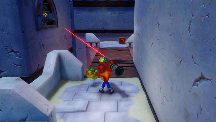 After the stage starts, jump onto the neighboring roof - Flaming Passion | Crash Bandicoot 3 | Levels - Crash Bandicoot 3 - Future location - Crash Bandicoot N. Sane Trilogy Game Guide
