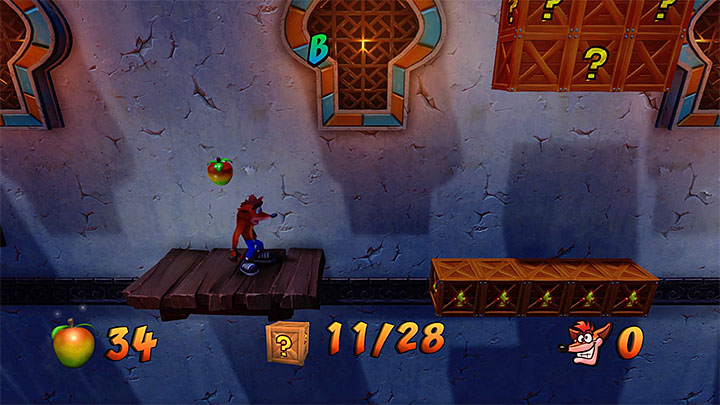Explore the areas to the left of the point where you have returned from the Death Route - Flaming Passion | Crash Bandicoot 3 | Levels - Crash Bandicoot 3 - Future location - Crash Bandicoot N. Sane Trilogy Game Guide