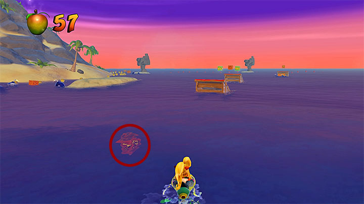 In Hot Coco, you ride a jet ski and unlike in the rest of stages of this type, you do not have to follow any specific route - Hot Coco and Eggipus Rex | Crash Bandicoot 3 | Secret Levels - Crash Bandicoot 3 - Secret levels - Crash Bandicoot N. Sane Trilogy Game Guide