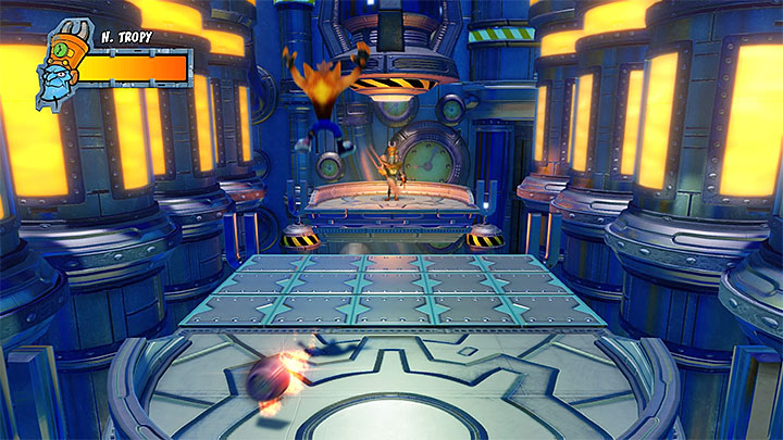The battle with Nefarious consists of three very similar phases - A Nefarious Trophy | Crash Bandicoot 3 Trophy Guide - Crash Bandicoot 3: Warped - Crash Bandicoot N. Sane Trilogy Game Guide