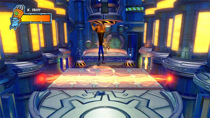 Nefarious will now start to pester you with red energy beams traveling up and down or to the sides - A Nefarious Trophy | Crash Bandicoot 3 Trophy Guide - Crash Bandicoot 3: Warped - Crash Bandicoot N. Sane Trilogy Game Guide