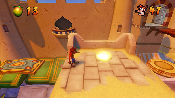 This location is not too difficult to complete and, if you already have the bazooka, you can use it to eliminate some of the obstacles and opponents - Bringing Down the House | Crash Bandicoot 3 Trophy Guide - Crash Bandicoot 3: Warped - Crash Bandicoot N. Sane Trilogy Game Guide