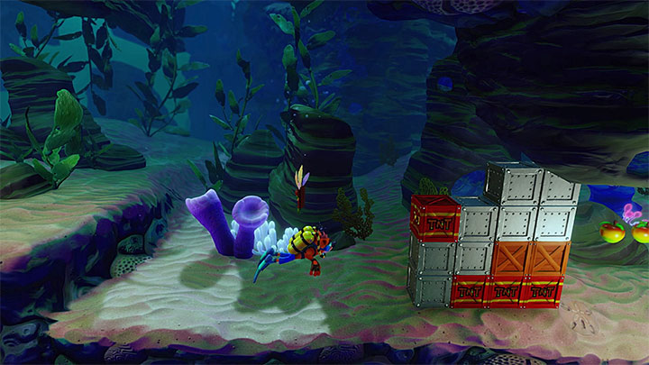 You can obtain the red gem during the twelfth stage of Deep Trouble - Bringing Down the House | Crash Bandicoot 3 Trophy Guide - Crash Bandicoot 3: Warped - Crash Bandicoot N. Sane Trilogy Game Guide