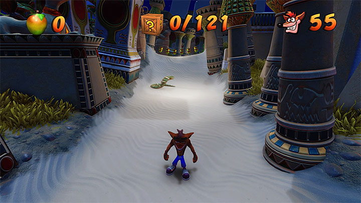 You can look up the current number by accessing the inventory (Triangle) while playing, or by accessing game save/load menu (L2) - A Stitch in Time Saves 99 | Crash Bandicoot 3 Trophy Guide - Crash Bandicoot 3: Warped - Crash Bandicoot N. Sane Trilogy Game Guide