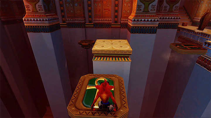 The ride ends on the ledge with spikes - Sphynxinator | Crash Bandicoot 3 | Levels - Crash Bandicoot 3 - Egyptian location - Crash Bandicoot N. Sane Trilogy Game Guide