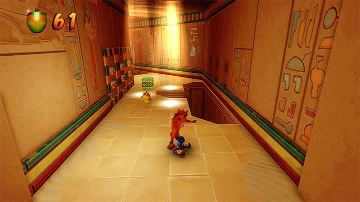 Along your path, get around the sarcophagus with a mummy and follow the path - Sphynxinator | Crash Bandicoot 3 | Levels - Crash Bandicoot 3 - Egyptian location - Crash Bandicoot N. Sane Trilogy Game Guide