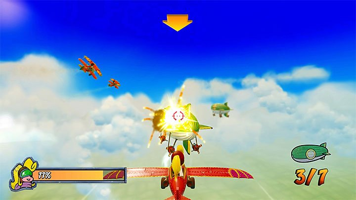 The primary objective of this mission is to shoot down seven blimps (you can do that in any order) - Bye Bye Blimps | Crash Bandicoot 3 | Levels - Crash Bandicoot 3 - Egyptian location - Crash Bandicoot N. Sane Trilogy Game Guide