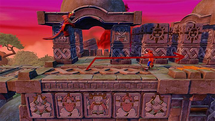 The portal leading to the bonus stage is connected to Nitrus Brio - The Lost City | Wumpa Island | Levels - Crash Bandicoot - Wumpa Island - Crash Bandicoot N. Sane Trilogy Game Guide