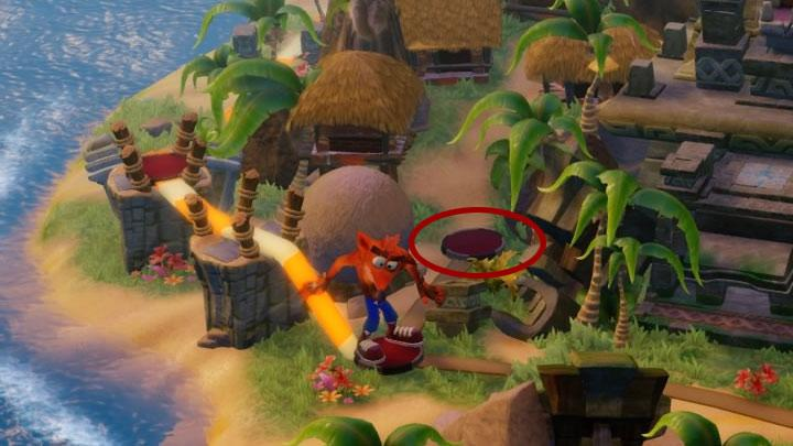 The path leading to this stage was presented in the picture - Whole Hog (hidden level) | Wumpa Island | Levels - Crash Bandicoot - Wumpa Island - Crash Bandicoot N. Sane Trilogy Game Guide