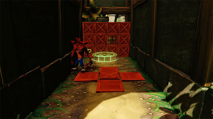 While exploring the main part of the level, notice the transparent object on the ground shown on the above picture (you will get here before you use the portal to bonus round) - Jungle Rollers | N. Sanity Island | Levels - Crash Bandicoot - N. Sanity Island - Crash Bandicoot N. Sane Trilogy Game Guide