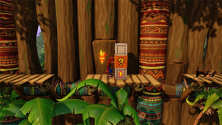 From the beginning of the level you will encounter metal chests that catapult Crash - The Great Gate | N. Sanity Island | Levels - Crash Bandicoot - N. Sanity Island - Crash Bandicoot N. Sane Trilogy Game Guide